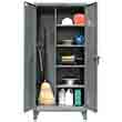"Broom Closet Storage Cabinet with 4 Adjustable Shelves - 36""W x 24""D x 72""H"