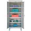 "Outdoor Storage Cabinet with 4 Adjustable Shelves - 36""W x 24""D x 73-3/4""H"