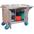 "Stainless Steel Mobile Cabinet - 46"" x 26"" x 41"""