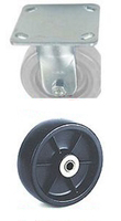 "40 Series Rigid Caster - 4"" x 1-1/2"" Polyolefin Wheel - 375 lb. Cap."