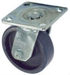 "40 Series Swivel Caster - 4"" x 1-1/2"" Urethane on Iron Wheel - 600 lb. Cap."