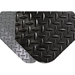 Diamond-Plate SpongeCote Beveled Heavy Duty Black 9/16in x 3ft x 5ft