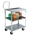 "Stainless Steel Utility Cart - 16-1/4"" W x 27-1/2"" L x 44-1/8"" H, 300 lb. cap."