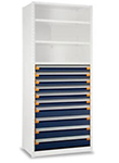 Modular Drawer Shelving Insert, 48w x 18d x 48h, 10 Drawers
