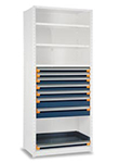 Modular Drawer Shelving Insert, 48w x 18d x 48h, 7 Drawers