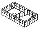 4-sided in-plant office