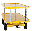 "4-Wheel Quad Steer Trailer, Double Deck - 36""W x 60""L, 2,000 lb. Deck Cap."