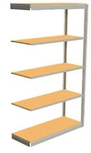 "Low Profile Rivet Shelving, 36""w x 12""d x 84""h, 350Lbs. Cap., 5 Shelves - Adder - With Decking"