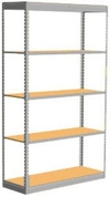 "Low Profile Rivet Shelving, 48""w x 24""d x 84""h, 250Lbs. Cap., 5 Shelves - Starter - With Decking"
