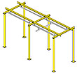 Floor Supported Rail System, 30'L x 15'W, 12' Underclearance, 1100 lbs. Cap.