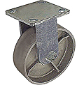 "65 Series Rigid Caster - 8"" x 2"" Cast Iron Wheel - 1,400 lb. Cap."
