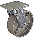 "65 Series Swivel Caster - 4"" x 2"" Cast Iron Wheel - 800 lb. Cap."