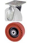 "65 Series Swivel Caster - 8"" x 2"" Omega Wheel - 1,200 lb. Cap."