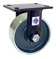 "75 Series Rigid Caster - 8"" x 3"" Forged Steel Wheel - Straight Bearing - 5,500 lb. Cap."