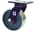 "76 Series Swivel Caster - 8"" x 3"" Forged Steel Wheel - Straight Bearing - 5,500 lb. Cap."