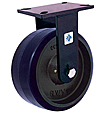 "76 Series Rigid Caster - 8"" x 2-1/2"" Urethane on Iron Wheel - Tapered  Bearing - 2,000 lb. Cap."