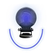 Forklift Approach Warning Light - Blue LED Arc Beam, Magnet Mount