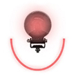 Forklift Approach Warning Light - Red LED Arc Beam