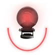 Forklift Approach Warning Light - Red LED Arc Beam, Magnet Mount