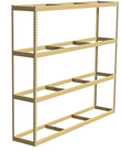 "Double Rivet Shelving, 4 Shelf, 96""W x 36""D x 84""H, Starter, No Decks, 620 lbs. Shelf Cap."