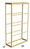Single Rivet Shelving, Starter, 36w x 12d x 84h, 5 Shelves