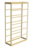 Single Rivet Shelving, Starter, 36w x 24d x 84h, 7 Shelves