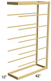 Single Rivet Shelving, Adder, 42w x 12d x 84h, 7 shelves