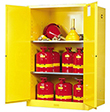 Safety Cabinet - 65 x 43 x 34, 90-gal., 2-shelf, Sure-Grip Handle, 2 door, manual