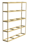 "Double Rivet Shelving, 5 Shelf, 96""W x 36""D x 84""H, Starter, No Decks, 620 lbs. Shelf Cap."