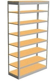 "Low Profile Rivet Shelving, 48""w x 18""d x 84""h, 250Lbs. Cap., 8 Shelves - Starter - With Decking"