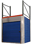 "Pallet Rack Security Enclosure - fits 8'H, 8'W x 42""D Rack"