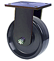 "95 Series Rigid Caster - 10"" x 3"" Phenolic Wheel - 2,900 lb. Cap."