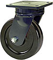 "95 Series Swivel Caster - 12"" x 3"" Phenolic Wheel - 3,500 lb. Cap."