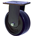 "95 Series Rigid Caster - 16"" x 4"" Urethane on Iron Wheel - 6,000 lb. Cap."