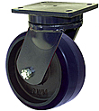 "95 Series Swivel Caster - 6"" x 3"" Urethane on Iron Wheel - 2,000 lb. Cap."