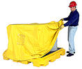 Pull Over Cover for 4-Drum Low Profile Spill Containment Pallet