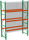 "Pallet Rack Starter with Safety Net - 192""h x 36""d x 96""w, Flush Mounted, 4"" x 4"" Netting"