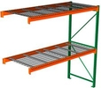 "Pallet Rack with Wire Decking - Adder with 2 Beam Levels - 96""w x 48""d x 96""h"