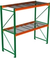 "Pallet Rack with Wire Decking - Starter with 2 beam levels - 48""w x 36""d x 96""h"