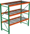 "Pallet Rack with Wire Decking - Starter with 3 Beam Levels - 96""w x 48""d x 96""h"