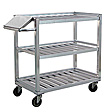 "Aluminum Picking Cart -  3 Shelf, 48""W x 42-1/2""H x 22""D"