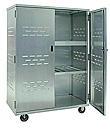 "Aluminum Mobile Security Cabinet - 49""W x 72""H x 26""D"
