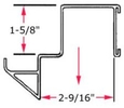 "9"" wide Low Profile Step Beam Hanger for 2½"" beam"