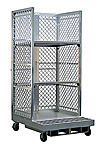 "Aluminum Cart for Order Pickers w/2 Adj. Shelves - Hyster, 40""W x 89-1/2""H x 48""L"