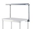 "Stainless Steel Cantilever Shelf Starter - Table Mounted, 12""D x 48""L, Shelf, Post & Brackets"