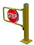 "AisleCop® High-Duty Cycle Pedestrian Gate - 36"" Opening w/ Hinge Post"