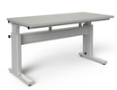 "Manual Height Adjustable Workstation - 30""D x 60""W, 500 lb. Cap., Laminate Top, Glide Feet"