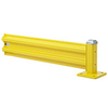Steel Guard Rail - Single High Adder - 3 ft. W at post centers x 12 in. H