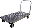 "Aluminum Platform Truck w/handle - rubber mold-on wheels - 24"" x 48"" x 10.5"""