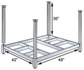 42W x 48L x 36H Open Deck Portable Stacking Rack - 2,000 lbs. cap.